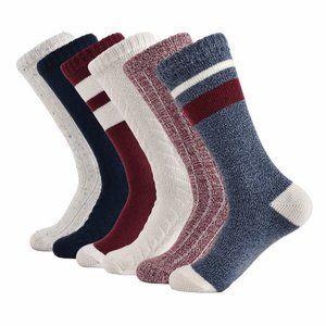 Lucky Brand Women's Boot Sock 6-pair Blue Maroon